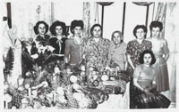 DiNola-Caprio family at the St. Joseph's Day Table, circa 1952
