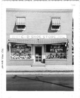 C&D Family Shoe Store on Chambers Street in Trenton, circa 1955