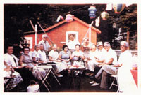 Uncle Joe's back yard party, circa 1960